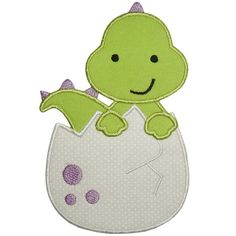 Dinosaur Egg Applique - Where the Fairy Tale begins - Custom Embroidery Machine Embroidery Applique, Applique Patterns, Applique Designs, Quilt Patterns, Embroidery Designs, Custom Embroidery, Dinosaur Eggs, Baby Dinosaurs, Dinosaur Cookies