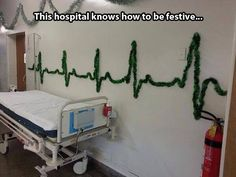 Christmas decorations at the hospital…