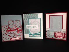Christmas Stampin' Up style.  Candy Cane and Winter a Frost designer series paper.