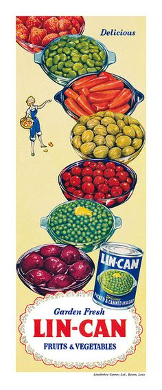 vintage Lin-Can canned vegetables advertisement