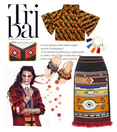 """""""Tribal"""" by lenro ❤ liked on Polyvore featuring Stella Jean, Elina Linardaki and Les Petits Joueurs"""
