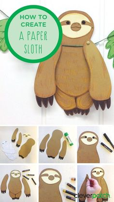 Do you also want a Sloth to come and visit? Create these super cute paper Sloths for Book Week! Based on the The Sloth Who Came to Stay by Margaret Wild and Vivienne To, this is an easy activity for all ages! crafts for boys The Sloth Who Came to Stay Art For Kids, Crafts For Kids, Arts And Crafts, Paper Crafts Kids, Summer Crafts, Kids Diy, Book Week, Animal Crafts, Kirigami