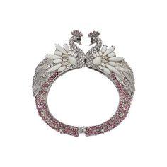242405389 Betsey Johnson B10580 B01 Ballerina Rose Pave Swan Hinged Bracelet NWT New