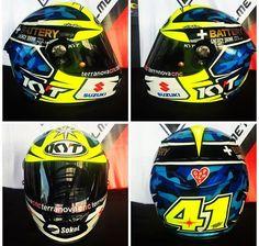 Aleix Espargaro helmet 2016 Valentino Rossi, Motogp, Helmets, Hard Hats, Helmet