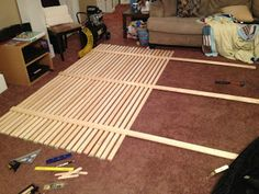 Fidlers Under One Roof: Mandal Headboard, step by step instructions