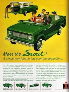"1972 International Scout II Fishing At The Lake Original Print Ad 8.5 x 11/"""