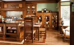 Traditional Residence in Classic Craftsman Interior: Craftsman Style Home Interior Design Ideas Aa Craftsman Style Kitchens, Craftsman Interior, Home Interior, Interior Design, Craftsman Chairs, Craftsman Decor, Bungalow Kitchen, Craftsman Houses, Style At Home