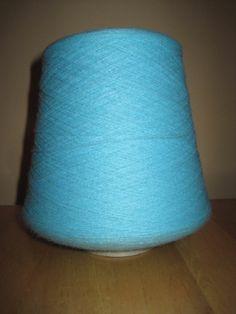Aqua~Delaine Acrylic Yarn Cone~Passap Brother~Machine Knitting~5200 ypp 2/24