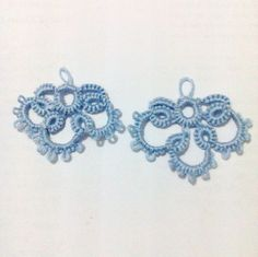 My very first needle tatting - earrings