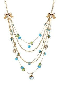 Blue Multi-Bead Illusion Necklace