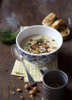 deliziosa zuppa di pasticche e nocciole