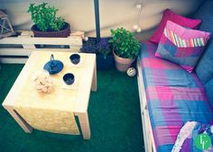 esik floresik: My Balcony - Mój balkon Wooden palettes and my balcony furniture - the best place to hang out with friends, sip wine and just relax!