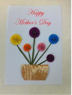 Use colorful papersand make Mom this beautiful flower arrangement. Here is a tutorial to show you how.    Materials   color papers scissors glue     You can giveit as a card or frame it to give as a present to Mom.