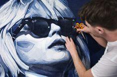 Debbie Harry denim Jeans art. Wearing Ray Ban. by Ian Berry Denimu