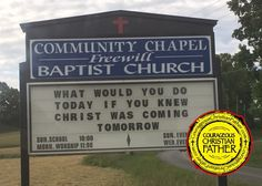 Christ Tomorrow Church Sign