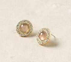 Champagne post earrings