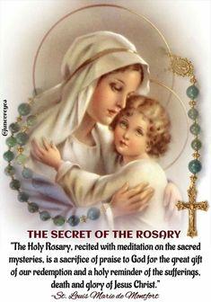 Louis Marie Grignon de Montfort on the Rosary. Praying The Rosary Catholic, Rosary Prayer, Catholic Religion, Holy Rosary, Catholic Prayers, Catholic Saints, Roman Catholic, Catholic Kids, Catholic Quotes