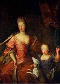 Élisabeth Charlotte d'Orléans, Duchess of Lorraine and her son Louis by Pierre…