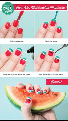 #Watermelon #Nailart