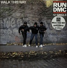 "For Sale - Run DMC Walk This Way UK  12"" vinyl single (12 inch record / Maxi-single) - See this and 250,000 other rare & vintage vinyl records, singles, LPs & CDs at http://eil.com"