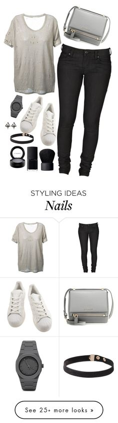 """Untitled #768"" by zoey-likes-muffins on Polyvore featuring IRO, Levi's, adidas, Givenchy, NARS Cosmetics, MAC Cosmetics, CC, women's clothing, women's fashion and women"