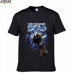 3D Print The Walking Dead T Shirts for Men and Women Zombie Fans Plus Size Short Sleeve T-shirts S-3XL(China (Mainland))