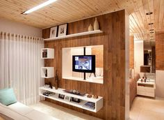 Awesome Salas Pequenas that you must know, You're in good company if you're looking for Salas Pequenas Living Room Partition Design, Living Room Tv Unit Designs, Room Partition Designs, Tv Unit Furniture Design, Home Decor Furniture, Tv Rack Design, Modern Tv Wall Units, Suites, Apartment Design