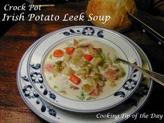 This Irish Potato Leek Soup is not like the usual potato leek soup Americans are used to… very good and certainly hearty… but not ...