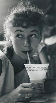 hollyhocksandtulips:  Soda fountain girl, 1950s Photo by George Tate