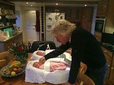 Proud Grandpa Richard Branson & his newborn twin grand babies