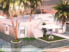 The Sims 4 Lots, Sims 5, Best Sims, Outdoor Retreat, Outdoor Decor, Outdoor Furniture, Sims 4 Game Mods, Sims 4 Mods, Sun Lounger