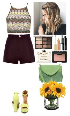 """Still summer"" by eliza-redkina ❤ liked on Polyvore featuring Topshop, River Island, Chinese Laundry, Salvatore Ferragamo, Boohoo, AERIN, NARS Cosmetics, women's clothing, women's fashion and women"