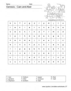 Worksheets for Bible study Kids