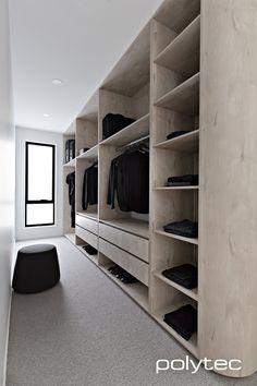 46 Dream Walk In Closet Designs For Organized Home Walk In Robe Designs, Walk In Closet Design, Bedroom Closet Design, Master Bedroom Closet, Closet Designs, Wardrobe Behind Bed, Bed In Closet, Bedroom Wardrobe, Wardrobe Closet