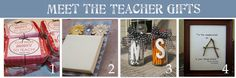 """Meet the teacher gifts.  Like the mints idea....would be good for all of the """"specials"""" teachers during appreciation week."""