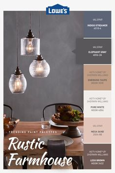 This exclusive color palette will give any space an authentic, rustic farmhouse feel. Rustic Color Palettes, Rustic Colors, Farmhouse Paint Colors, Paint Colors For Home, Farm House Colors, Primitive Bathrooms, My Living Room, Small Living, Mediterranean Homes
