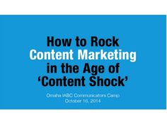 2014 content marketing best strategy by Crowd Consulting via slideshare