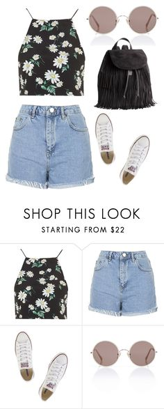 """""""amusement park"""" by horvat-rea ❤ liked on Polyvore featuring Topshop, Converse, Sunday Somewhere, H&M, GetTheLook, pretty and contestentry"""