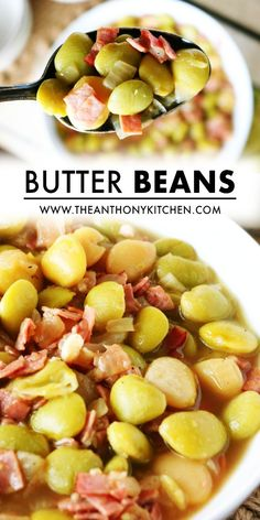 A delicious and savory quick-fix Butter Beans Recipe featuring frozen butter beans, chopped ham, and onion. Build big flavor fast with this recipe! Then, serve your Butter Beans as the main event with a hearty slice of Homemade Cornbread or as a starchy side dish to complement any Southern meal! Healthy Side Dishes, Vegetable Side Dishes, Vegetable Recipes, Potluck Recipes, Side Dish Recipes, Casserole Recipes, Moist Cornbread, Homemade Cornbread, Cream Corn Casserole