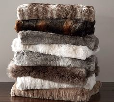 All the faux fur blankets!