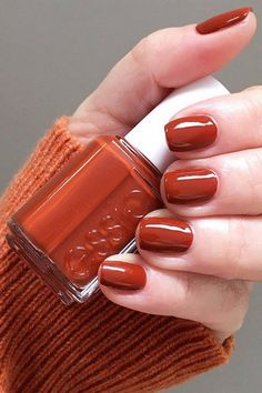 The Best Nail Polish Colors To Try This Fall Burnt-Orange - Fall Nai. - - The Best Nail Polish Colors To Try This Fall Burnt-Orange – Fall Nai… Parti Die besten Nagellackfarben für diesen Herbst Burnt-Orange – Herbst Nagelfarben Fall Nail Polish, Best Nail Polish, Autumn Nails, Winter Nails, Fall Manicure, Manicure Colors, Orange Nail Polish, Essie Nail Polish Colors, Red Orange Nails
