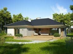 Best Living Room Design, Home Room Design, Dream Home Design, Home Design Plans, House Outside Design, Small House Design, Beautiful House Plans, Beautiful Homes, Village House Design