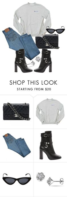 """""""Untitled #23265"""" by florencia95 ❤ liked on Polyvore featuring Chanel, Levi's, Isabel Marant and Le Specs"""