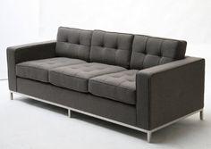 Grey Florence Knoll Style Sofa 8: Bridge: $600