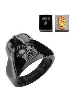 Stainless Steel 3D Darth Vader Ring by Inox Jewelry (Black) #InkedShop #DarthVader #ring #jewelry #StarWars #geekchic