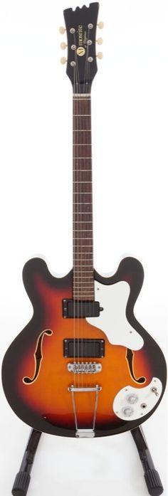 Circa 1968 Mosrite Combo Sunburst Semi-Hollow Body Guitar.