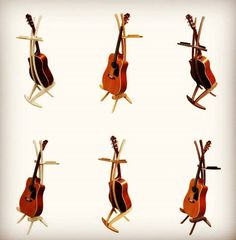guitar stands - maple, cherry and walnut