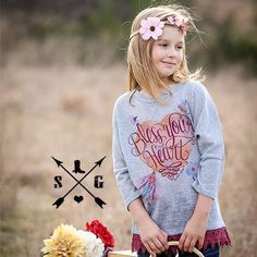 Bless Your Heart Tunic. Maroon Lace trim. Dolman sleeve. Toddler and tween fashion.