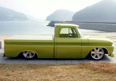 Chev chevy chevrolet pickup truck 1964 1965 1966 c10 slammed dropped laid out laid-out