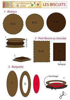 Biscuit en feutrine , Patron couture gratuit - Loisirs créatifs